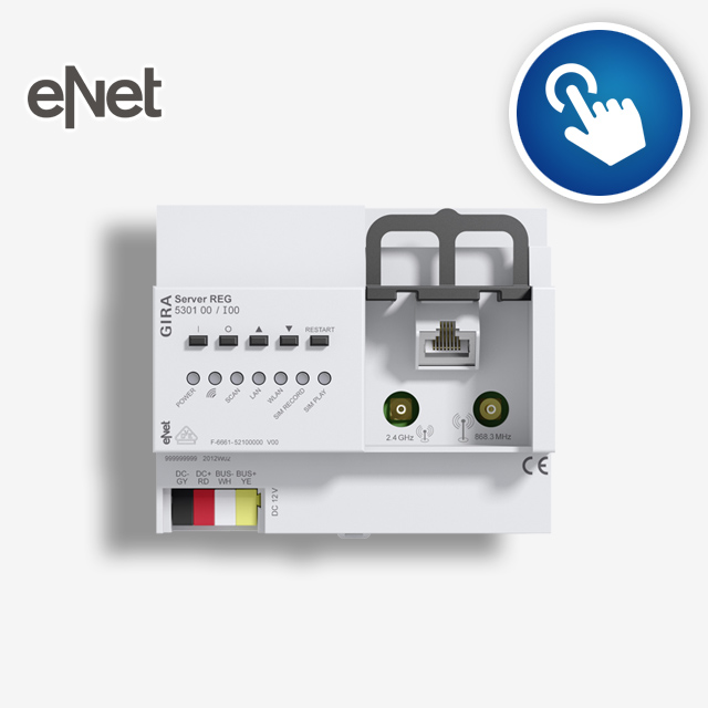 eNet Server - Interactive start-up